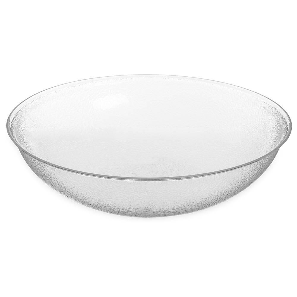 "Carlisle SB7907 22"" Round Salad Bowl w/ 24-qt Capacity, Acrylic, Clear"