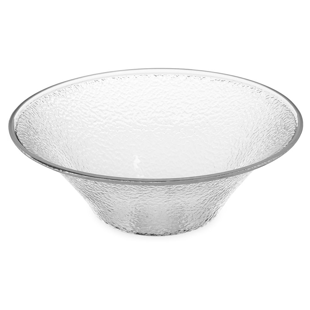 "Carlisle SB9007 11.25"" Round Serving Bowl w/ 3.3 qt Capacity, Acrylic, Clear"