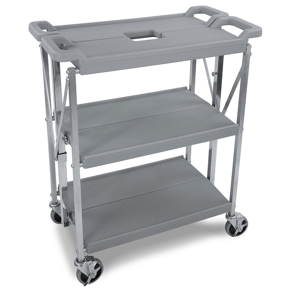 Carlisle SBC152123 3 Level Polymer Utility Cart w/ 350 lb Capacity, Flat Ledges