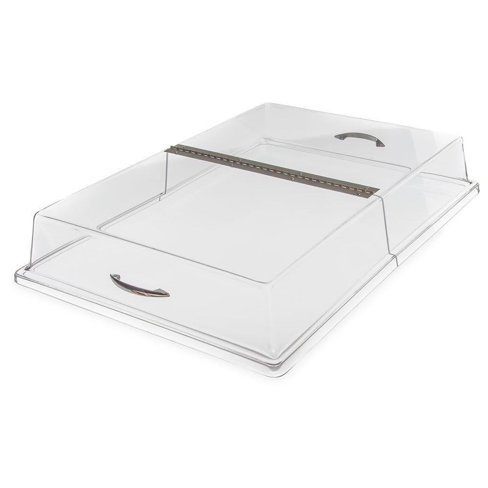 "Carlisle SC2607 Hinged Clear Acrylic Pastry Tray Cover, 26"" x 18"" x 4"""