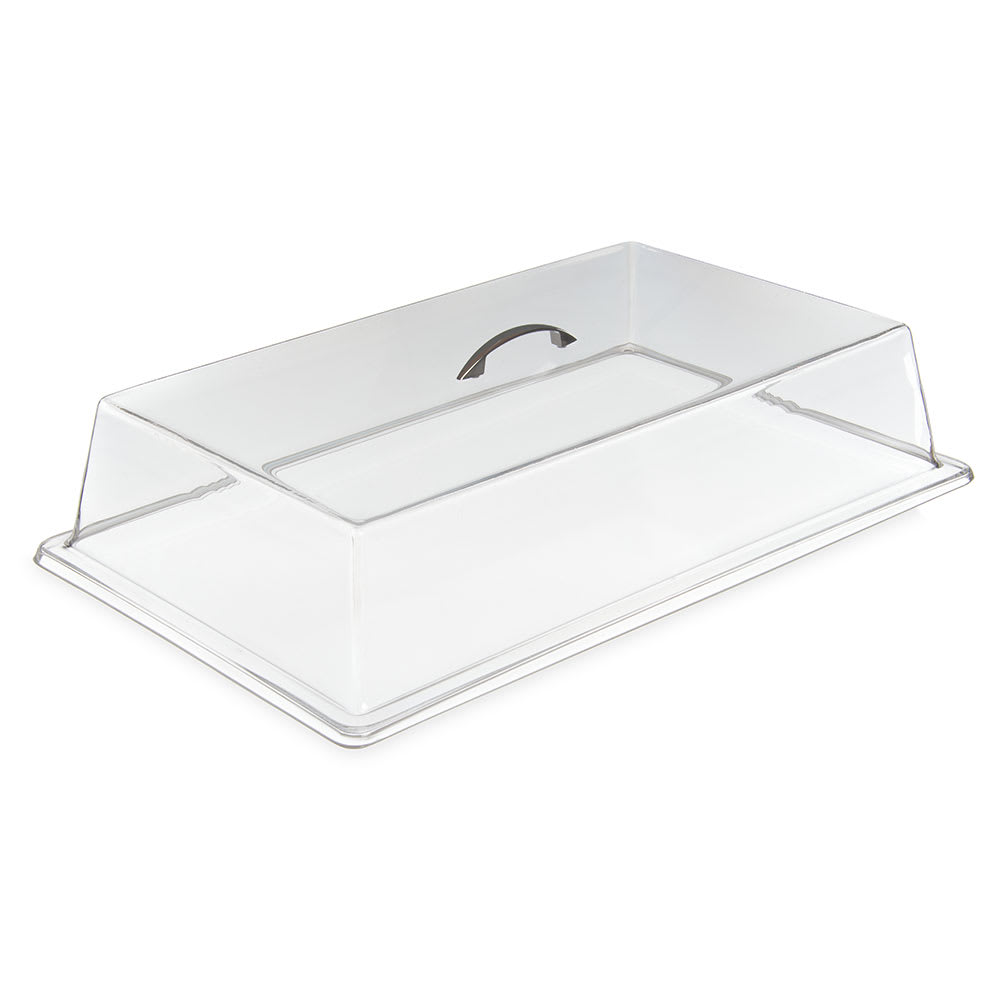 "Carlisle SC2707 Pastry Tray Cover - 19 5/16x11 3/8x4 1/4"" Acrylic, Chrome/Clear"
