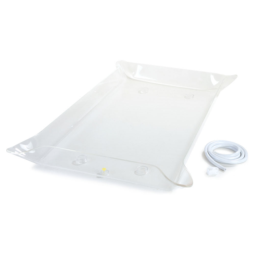 "Carlisle SL6011TC00 Rectangular Light Box Tray - 41.25"" x 23.5"" x 4"", Acrylic, Clear"