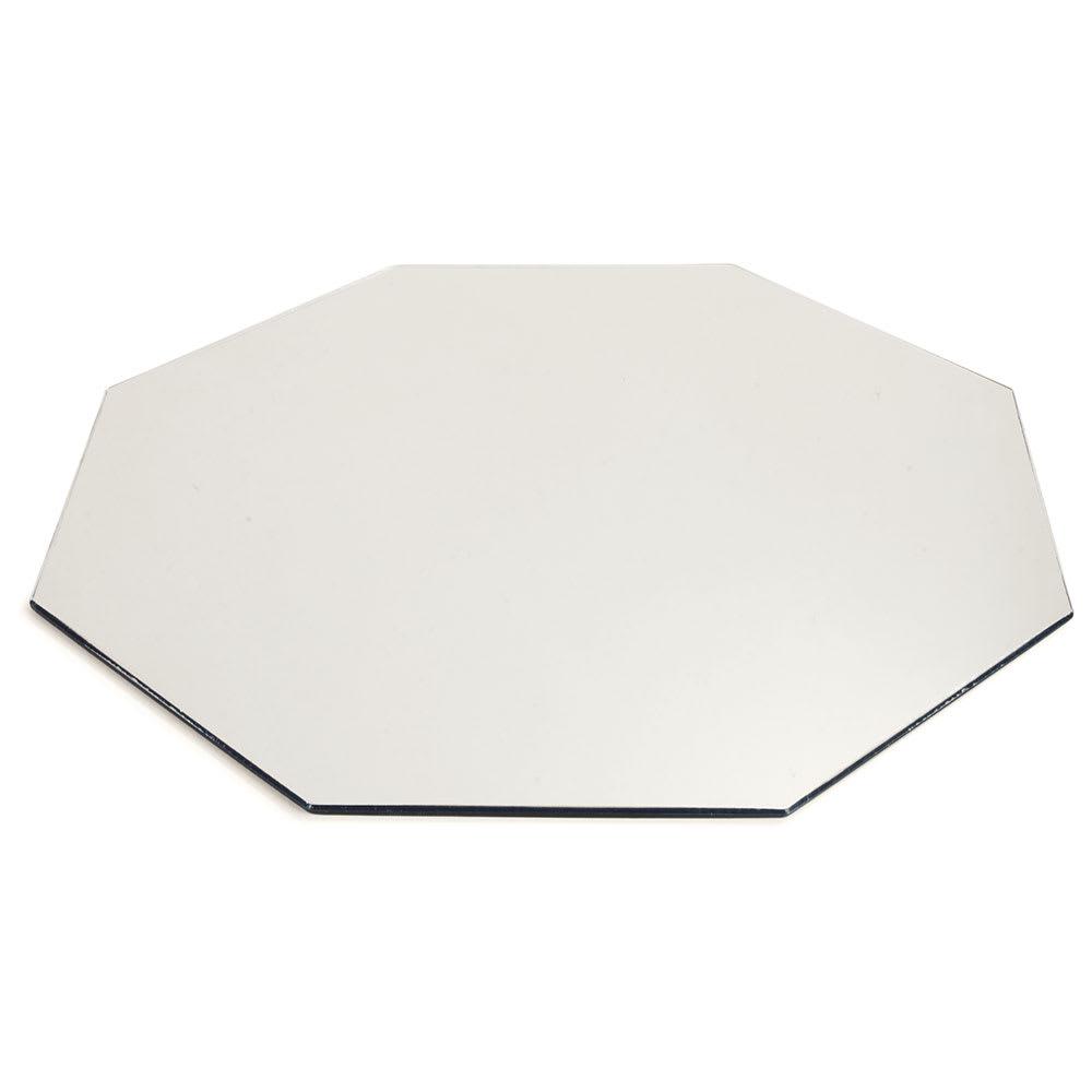 "Carlisle SMOC2423 24"" Octagonal Display Tray - Mirrored Acrylic"