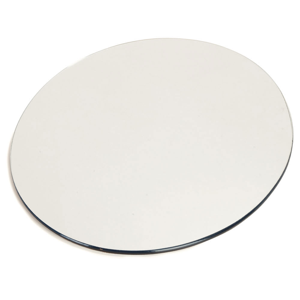 "Carlisle SMR1623 16"" Round Display Tray - Mirrored Acrylic"