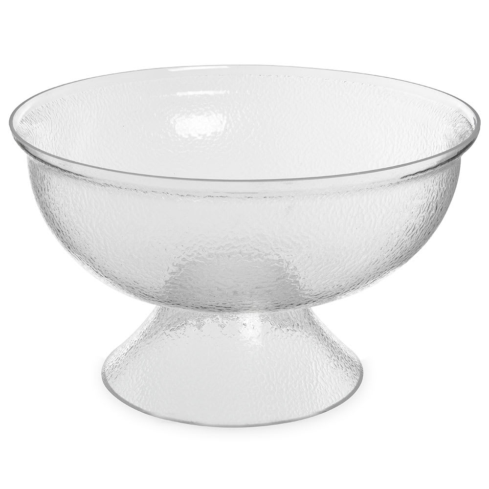 "Carlisle SP1807 17.5"" Round Punch Bowl w/ 18-qt Capacity, Acrylic, Clear"