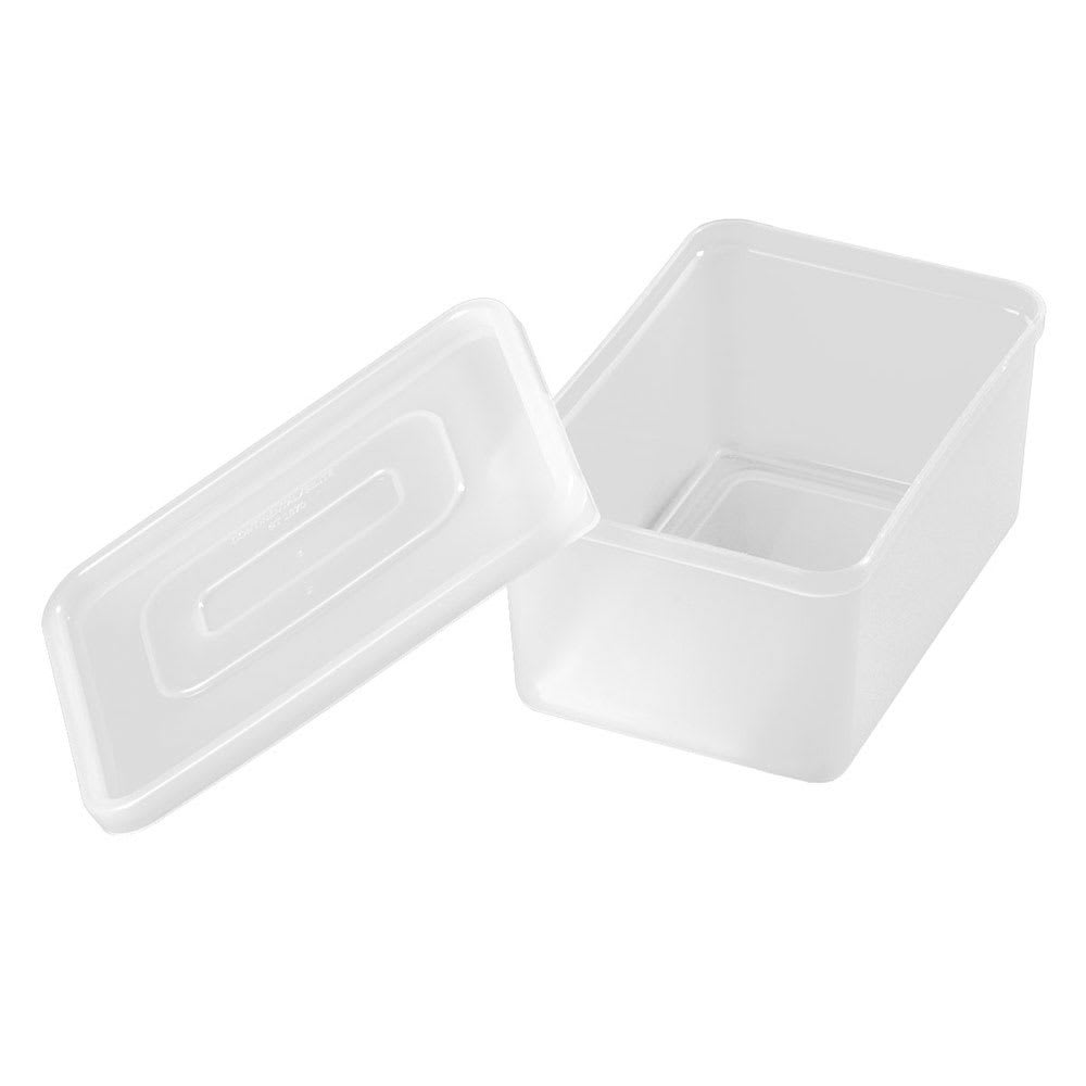 Carlisle SS10702 1.25 qt Condiment Container w/ Acrylic Lid, Polypropylene, White