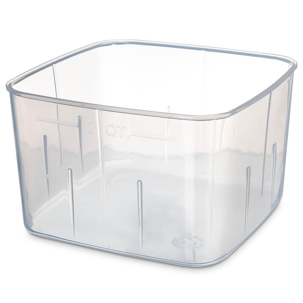 Carlisle ST153230 2-qt Square Food Storage Container - Translucent
