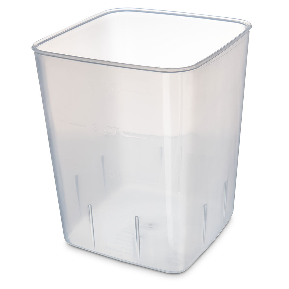Carlisle ST154430 4-qt Square Food Storage Container - Translucent