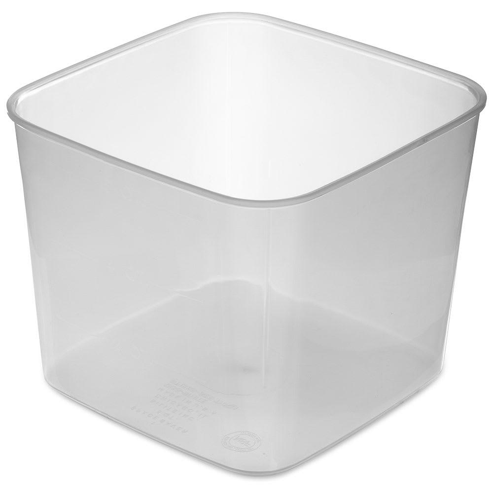 Carlisle ST155630 6 qt Square Food Storage Container - Translucent