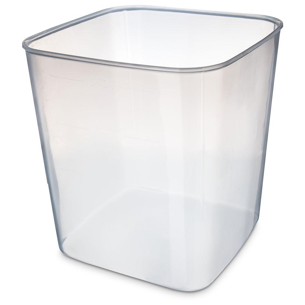 Carlisle ST156830 8 qt Square Food Storage Container - Translucent
