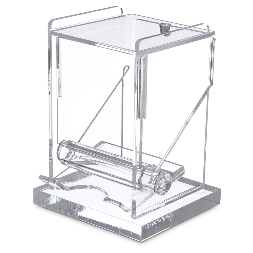 Carlisle TP10007 Toothpick Dispenser w/ 1-Box Capacity, Acrylic, Clear