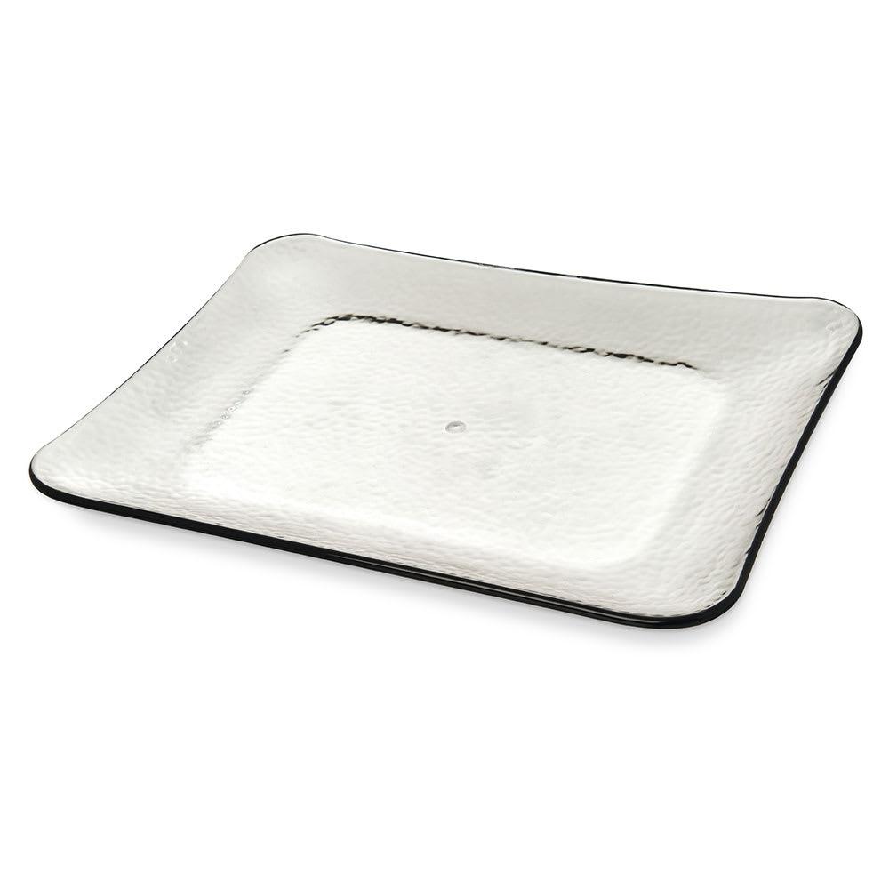 "Carlisle TRA0118 Rectangler Platter - 19.75"" x 14.75"", Melamine, Smoke"