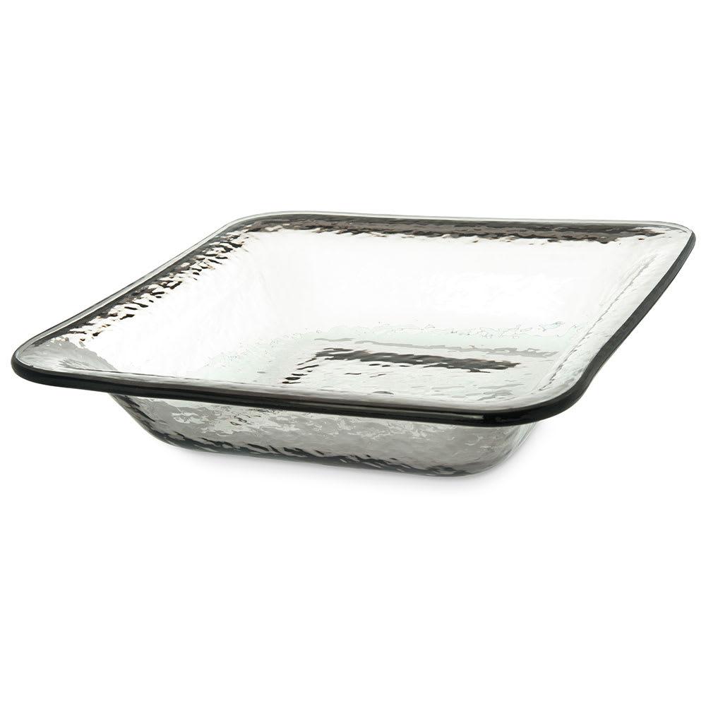 "Carlisle TRA0218 12.375"" Square Serving Bowl w/ 3.4 qt Capacity, Plastic, Smoke"