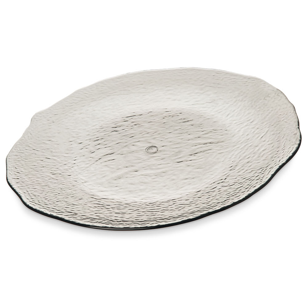 "Carlisle TRA0618 14.5"" Round Serving Tray - Plastic, Smoke"