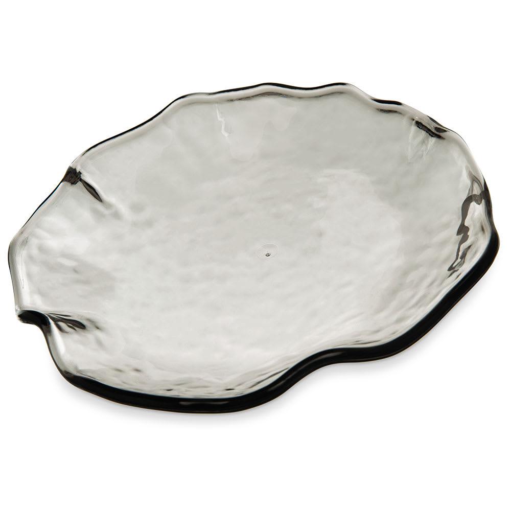 "Carlisle TRA0918 8"" Round Salad Plate - Plastic, Smoke"