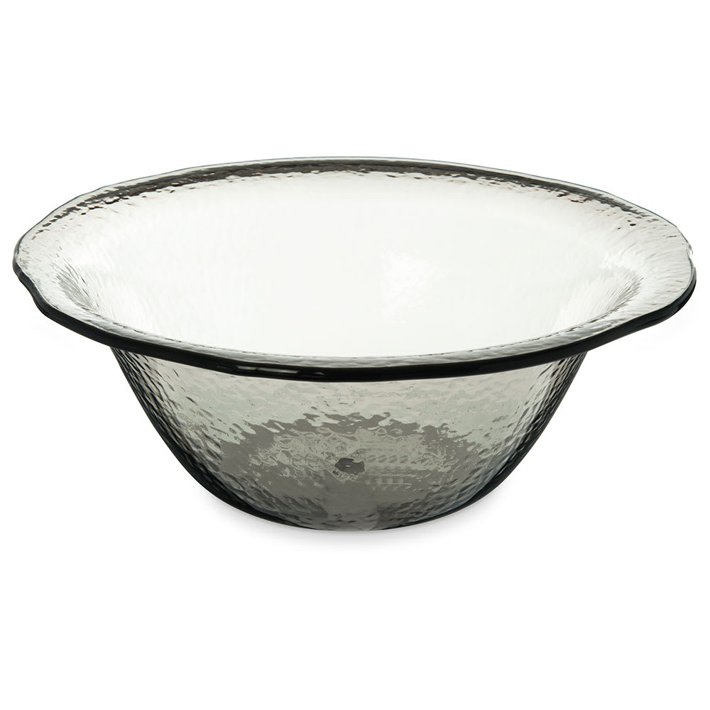 "Carlisle TRA1118 15.25"" Round Serving Bowl w/ 7.4 qt Capacity, Plastic, Smoke"