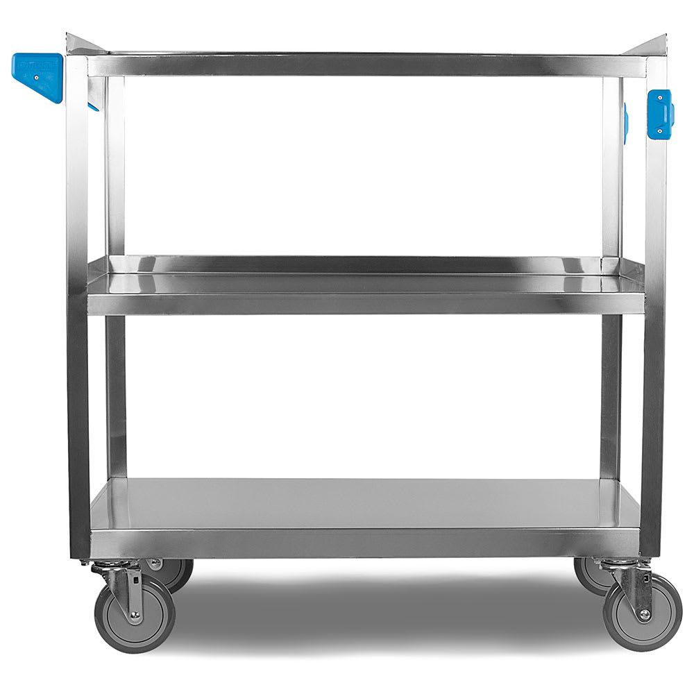 Carlisle UC5032135 3 Level Stainless Utility Cart w/ 500 lb Capacity, Flat Ledges
