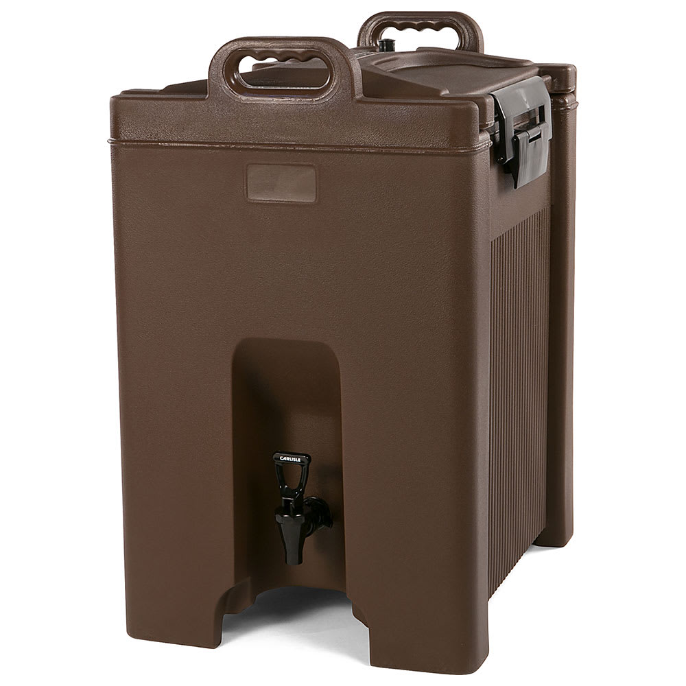 Carlisle XT1000001 10-gal Beverage Server - Insulated, Polyethylene, Brown