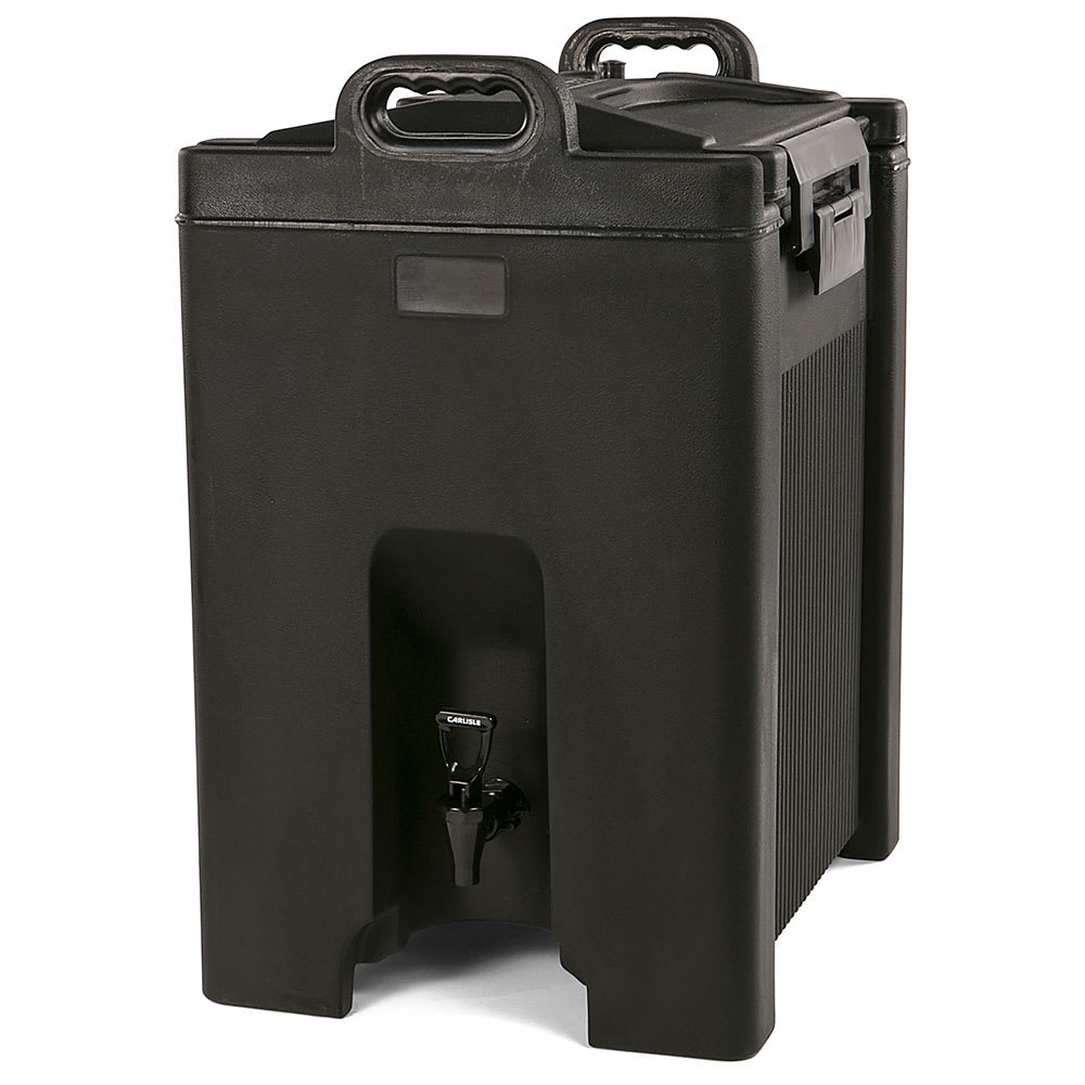 Carlisle XT1000003 10 gal Beverage Server - Insulated, Polyethylene, Black