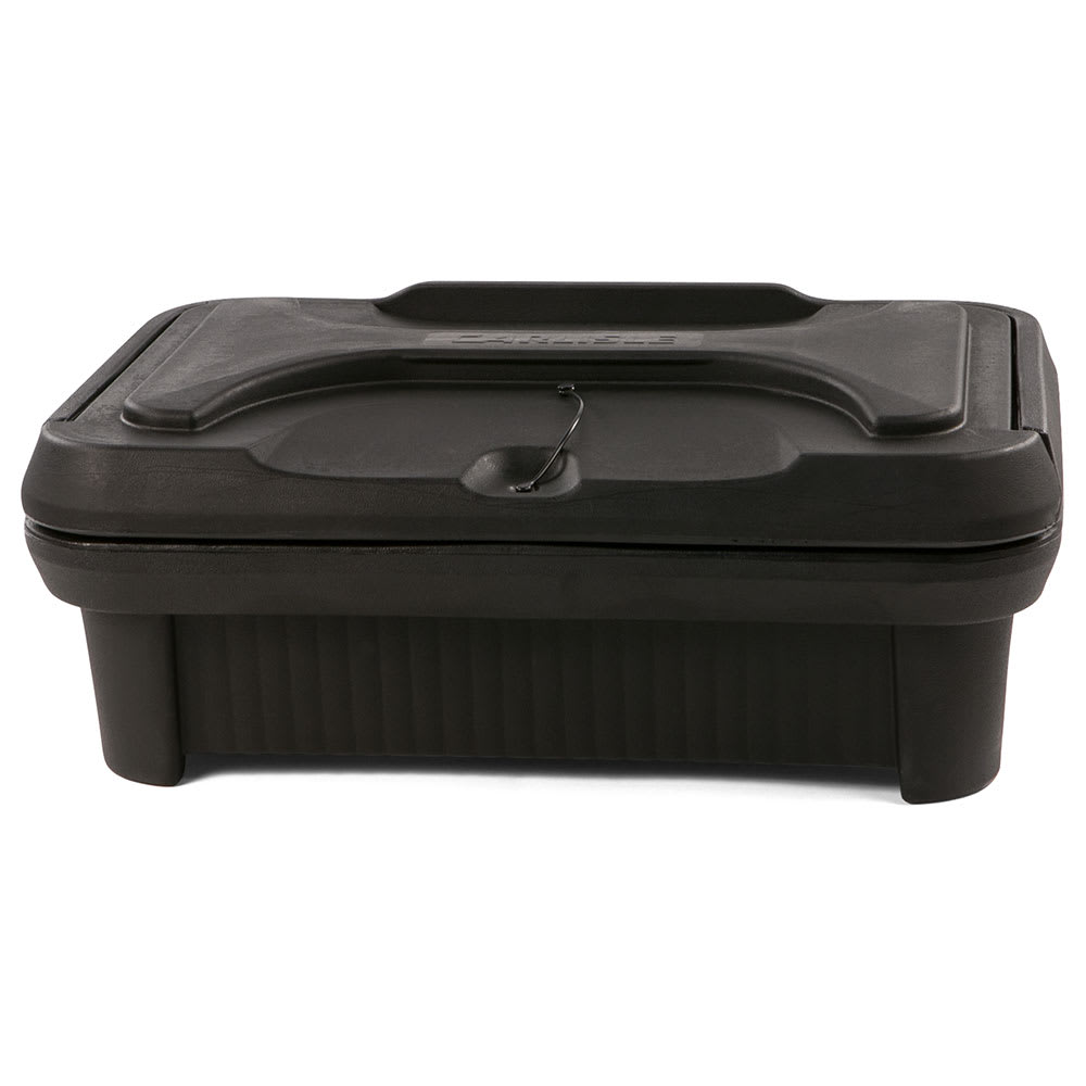 Carlisle XT140003 Top Load Pan Carrier w/ 12 qt Capacity, Polyethylene, Black
