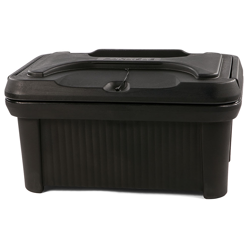 Carlisle XT180003 Cateraide™ Insulated Food Carrier - 24 qt w/ (1) Pan Capacity, Black