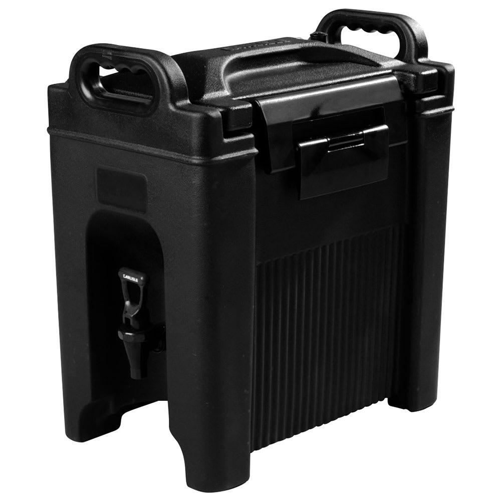 Carlisle XT250003 2.5-gal Beverage Server - Insulated, Polyethylene, Black