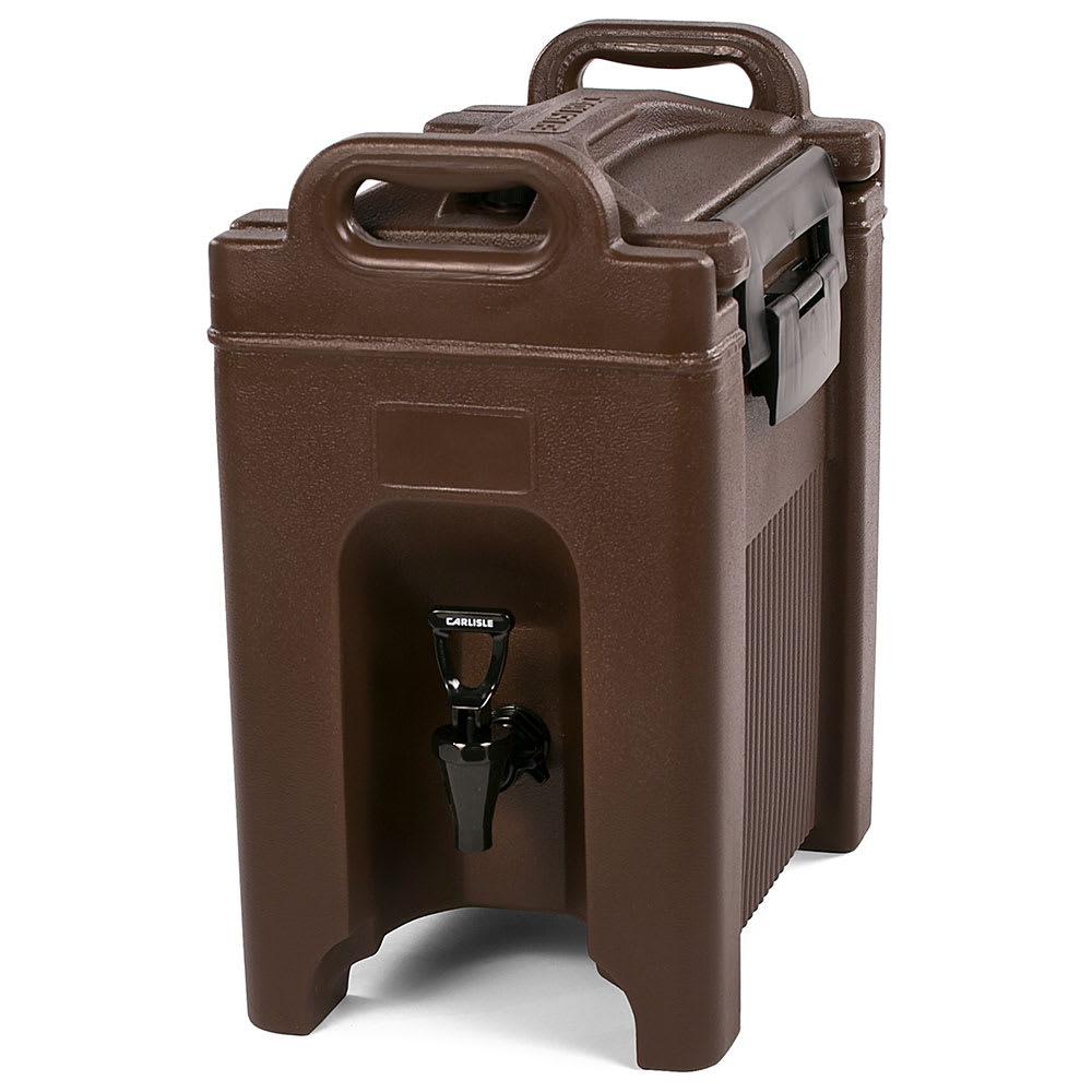 Carlisle XT250001 2.5 gal Beverage Server - Insulated, Polyethylene, Brown