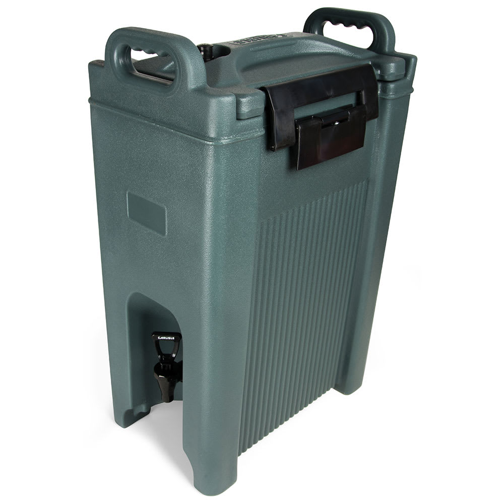 Carlisle XT500059 5-gal Beverage Server - Insulated, Polyethylene, Slate Blue