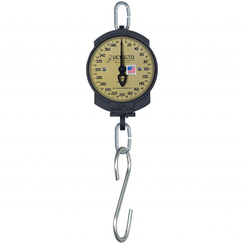 "Detecto 11S200HKG 7"" Single Dial Hanging Scale w/ Cast Iron Housing, 100-kg x 500-g"