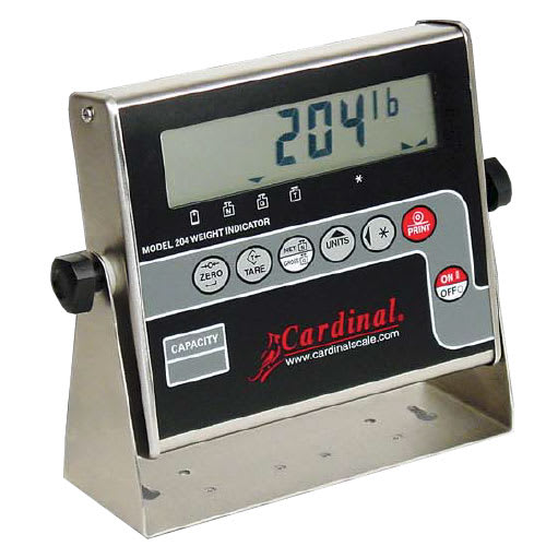 "Detecto 204 Digital Weight Indicator for Floor Hugger Model w/ 1"" LCD Display"