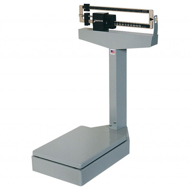 Detecto 4527PK Receiving Balance Beam Bench Scale, Enamel Finish, 350 lb/160 kg Capacity