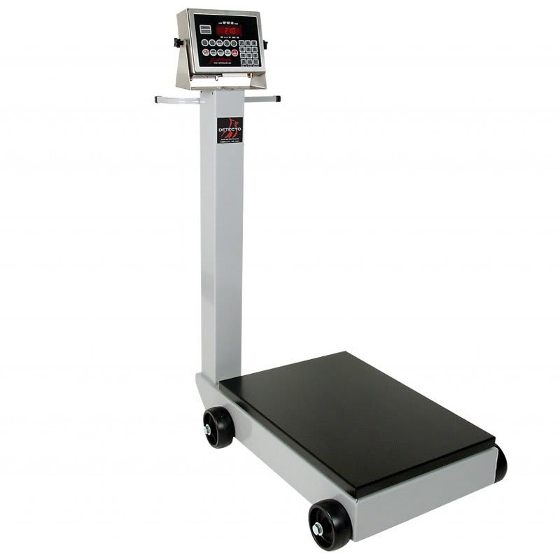Detecto 5852F-190 500 lb Digital Portable Scale w/ 190 Weight Display Indicator