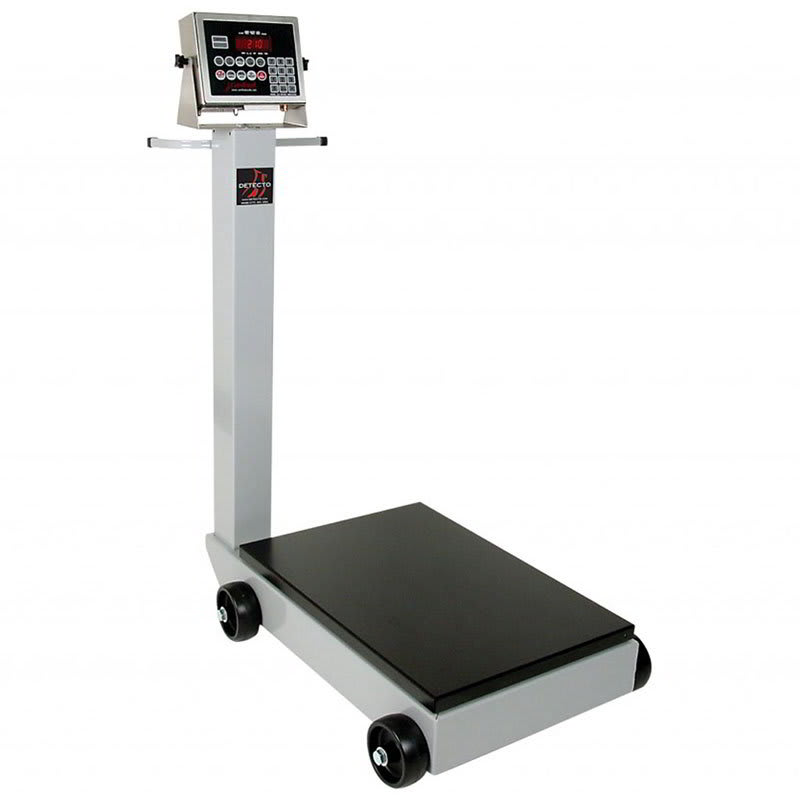 "Detecto 5852F-204 Digital Receiving Scale w/ 1"" LCD, LB/KG Switch, 204 Weight Display, 115v"