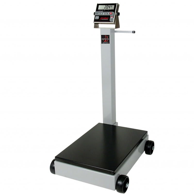 Detecto 5852F-210 500 lb Digital Portable Scale w/ 210 Weight Display Indicator