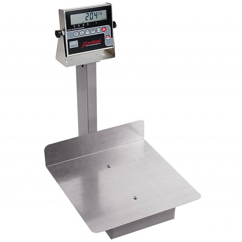 "Detecto 7045G Digital Receiving Scale, .7"" LCD Display, 400 x .2 lb, lb/kg Switch"