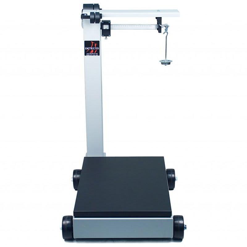 Detecto 854F100P Floor Model Balance Beam Receiving Scale w/ Enamel Finish, 1000 lb Capacity