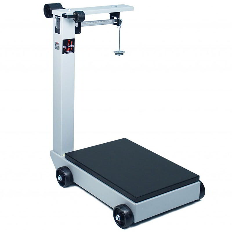 Detecto 854F50P Floor Model Balance Beam Receiving Scale, 500 lb Capacity