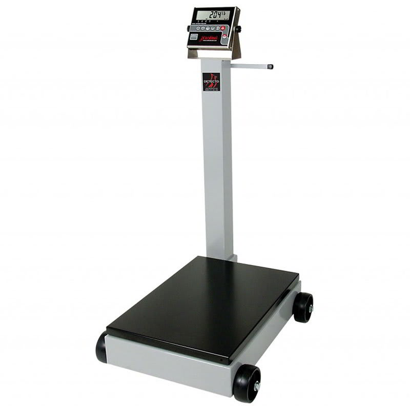 "Detecto 8852F-205 Digital Receiving Scale, .6"" LED Display, LB/KG Switch, 1000 x .5 lb, 115v"