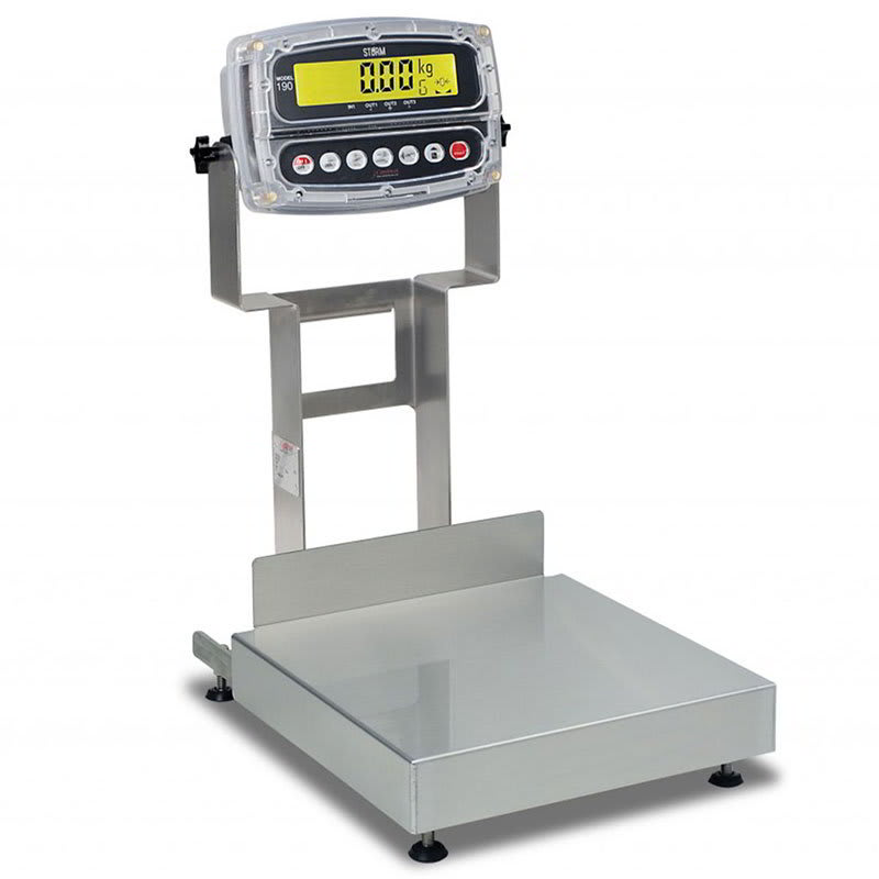 Detecto CA12-120-190 Wash-Down Bench Scale w/ ColorZONE, 120 lb x .05-lb Capacity