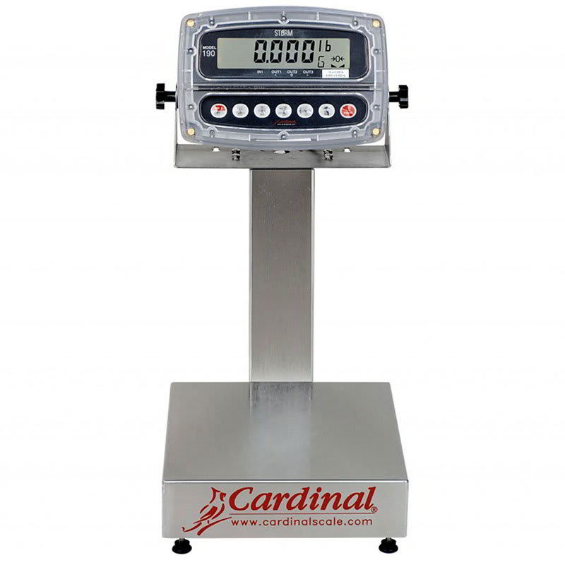 """Detecto EB-150-190 Digital Bench Scale, 1"""" LCD Display, lb/kg/g/oz, 150x.05-lb, 14 x 16"""", 110v"""