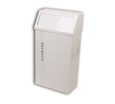 Detecto H-60 Hanging Wall Mount Waste Receptacle w/ White Epoxy Finish, 60-qt