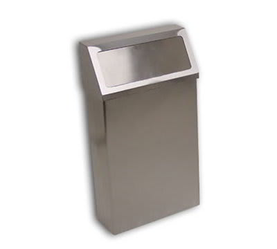 Detecto H-60S Hanging Wall Mount Waste Receptacle w/ Stainless Finish, 60-qt