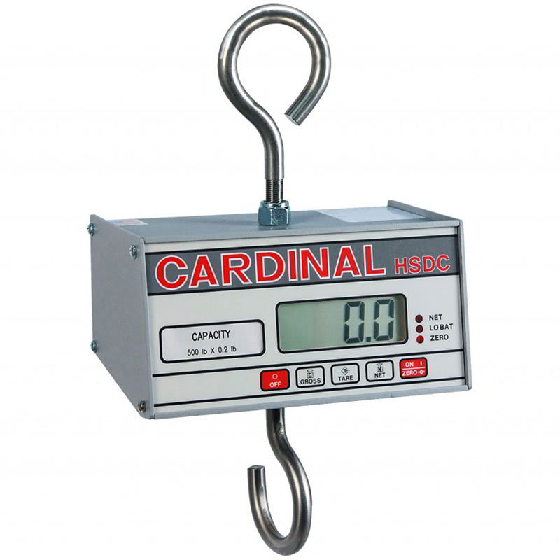 "Detecto HSDC-100KG Hanging Scale w/ 1"" Digital Readout, Battery Powered, 99.95x.05-kg Capacity"