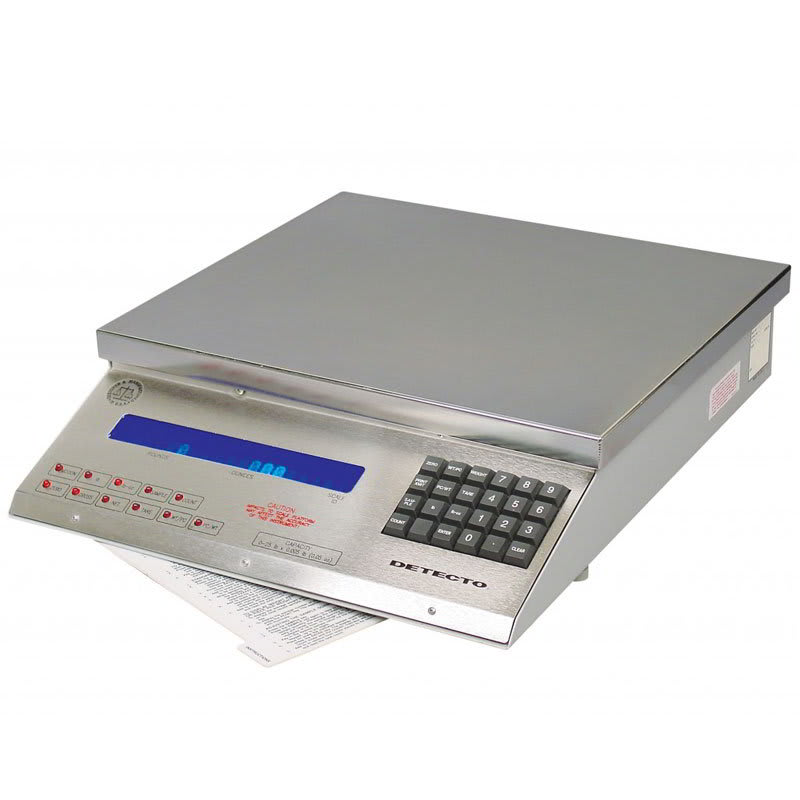 Detecto MSB-25 25-lb Digital Mailing/Shipping Scale w/ Stainless Platform, 110v