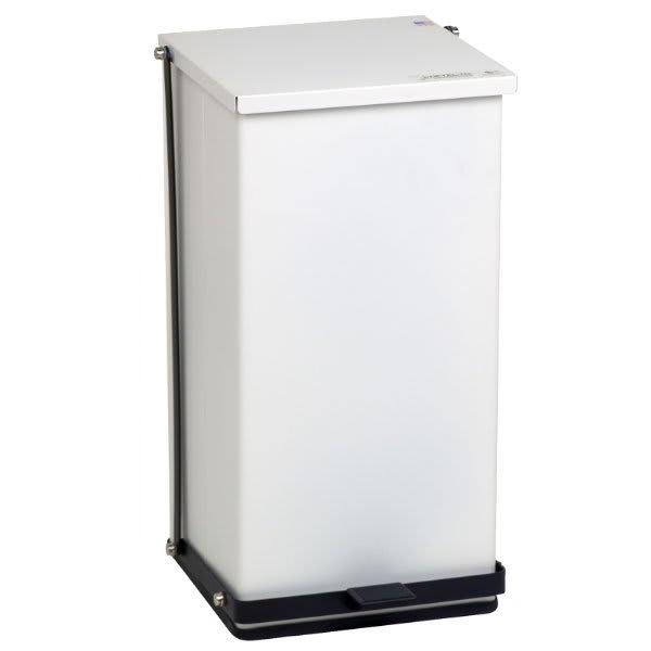 "Detecto P-100 25-gal Rectangle Plastic Step Trash Can, 27.75""L x 16.75""W x 17.75""H, White"