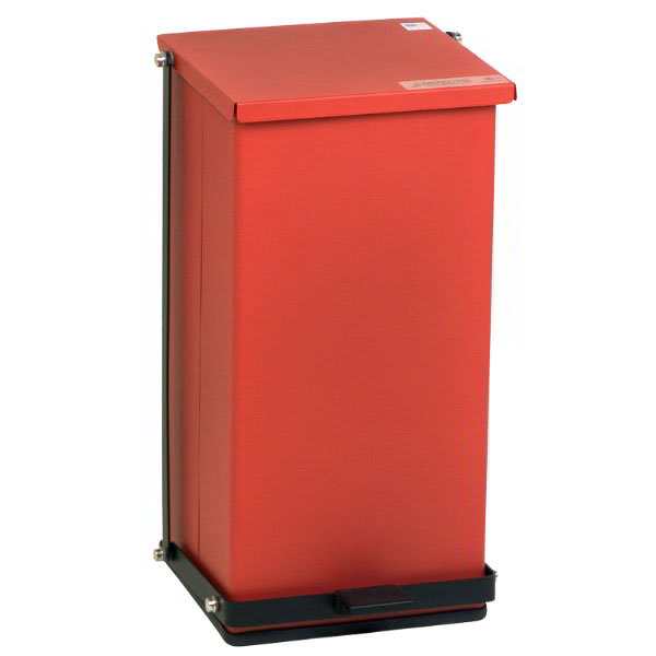 "Detecto P-32R 8-gal Rectangle Plastic Step Trash Can, 21""L x 11.75""W x 13""H, Red"