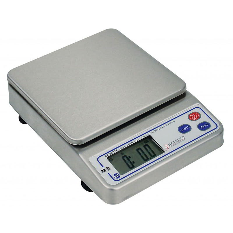 Detecto PS11 Digital Portion Control Top Loading Scale w/ LCD Display, 11 lb x .1 oz