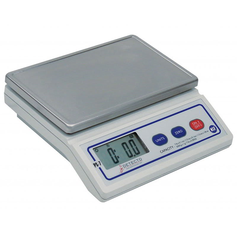 Detecto PS-7 Top Loading Counter Model Scale w/ Digital Portion Control, 7-lb x .1-oz