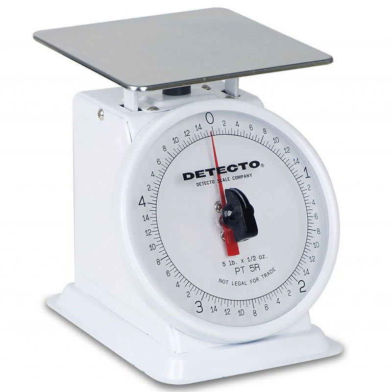 "Detecto PT2 Petite Top Loading Counter Scale w/ 6"" Dial, 32 x .25 oz Capacity"