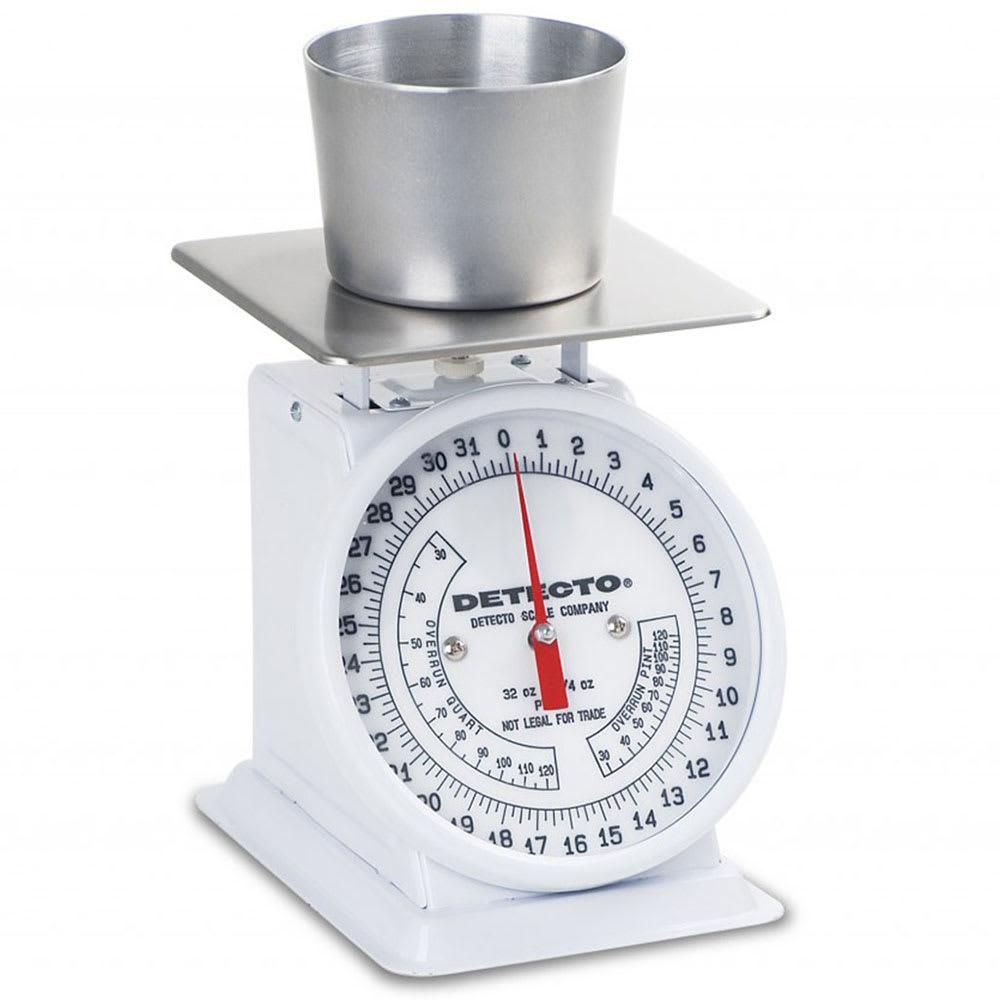 Detecto PT-2R Counter Model Dial Portion Scale w/ Enamel Housing, 32 x .25 oz